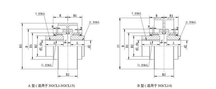WGT型接中间套鼓形齿式联轴器