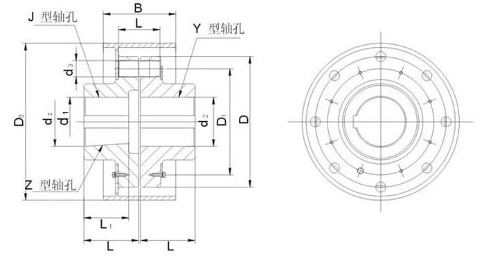 HL型弹性柱销联轴器