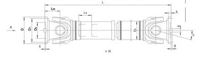 SWC-CH型长伸缩焊接式万向联轴器