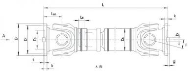 SWC-WD型无伸缩短式万向联轴器