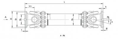 SWC-WH型无伸缩焊接式万向联轴器