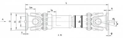 SWC-BF型标准伸缩法兰式万向联轴器